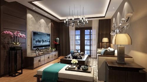 颐和观邸 三室 新中式风格